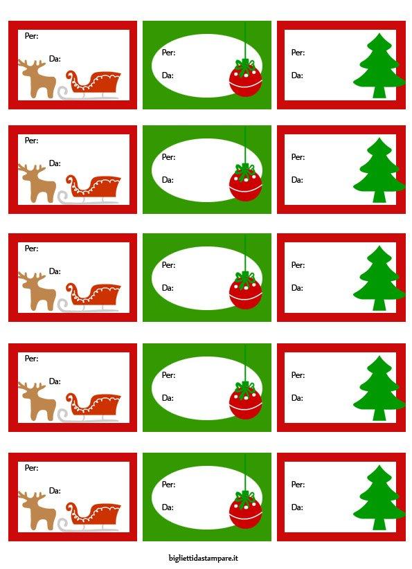 Biglietti Per Regali Di Natale Da Stampare.Biglietti Natale Biglietti Da Stampare