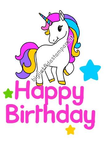 Biglietto compleanno unicorno