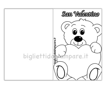 Biglietto San Valentino con orsetto