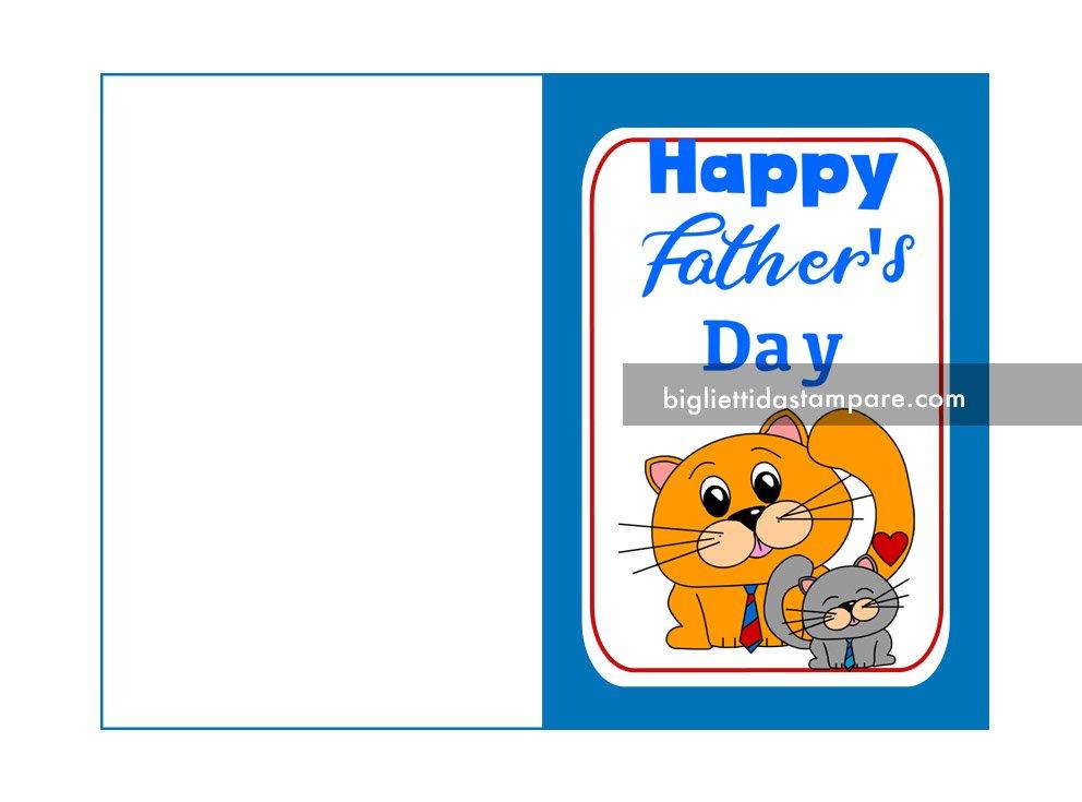 biglietto Happy father's day con gatti