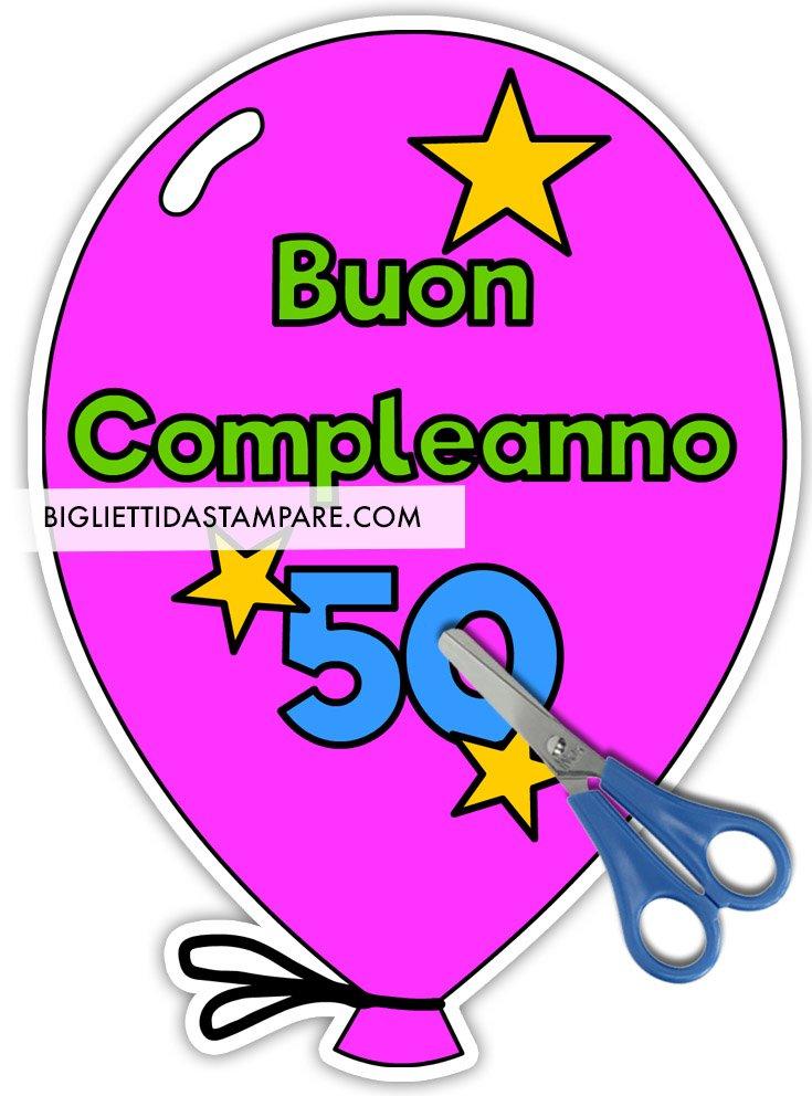 palloncino buon compleanno 50 anni
