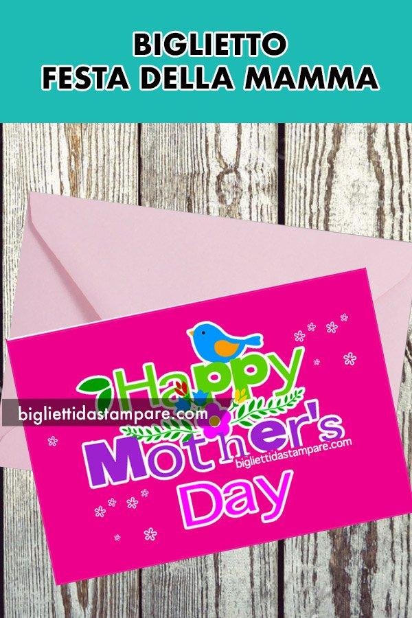 Biglietto Happy Mother's Day da stampare