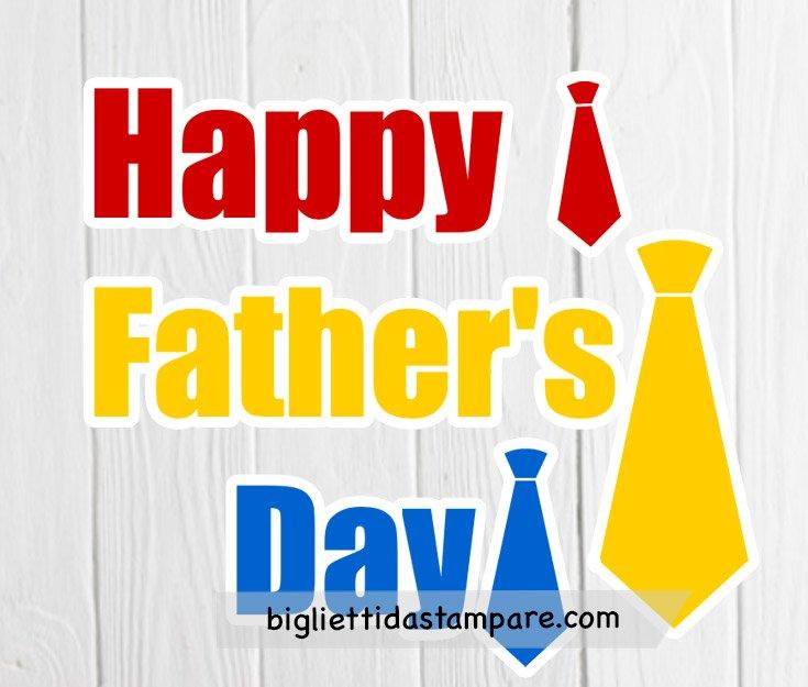 Happy father's day scritta con cravatte